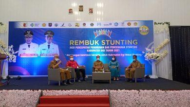 Kiri ke kanan : Sekab Sigi Muh Basir, Ketua DPRD Sigi Moh Rizal Intjenae, Bupati Sigi Mohamad Irwan, Ketua TP - PKK Sigi Hj. Hazizah, S.M, Kepala BP3D Sigi Sutopo Sapto Condro